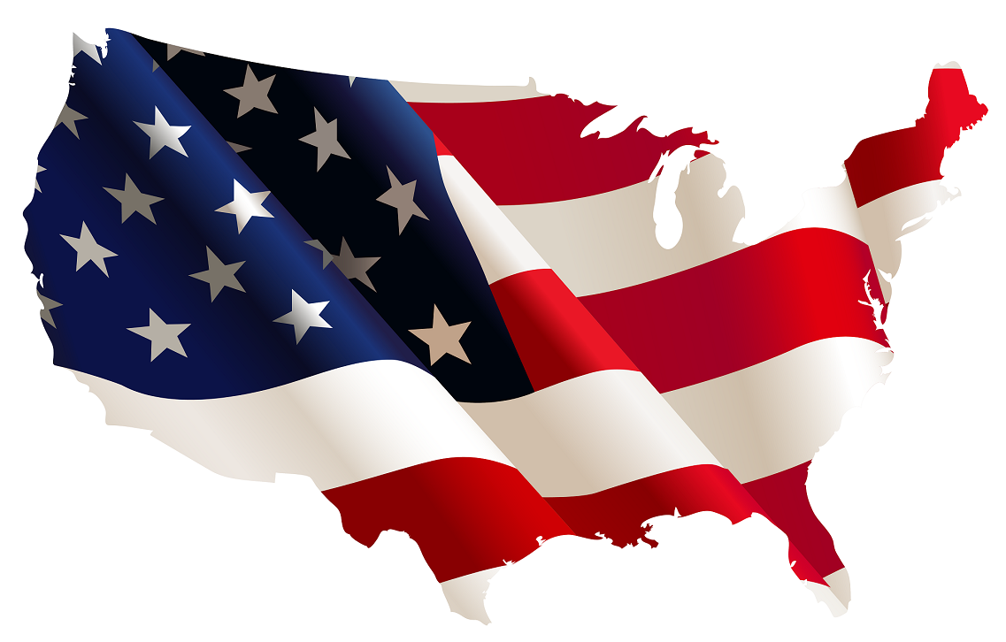 CountryProjectUSA - Us map american flag